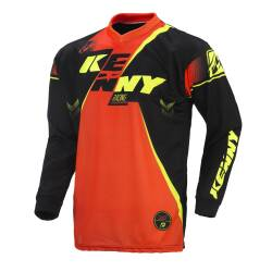 KOSZULKA KENNY TRACK 2017 black / neon orange